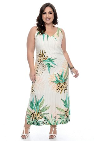 Vestido Midi Plus Size Stelyn