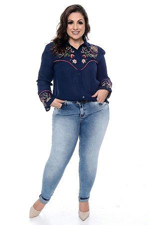 Calça Cigarrete Jeans Plus Size Aurora