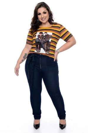 Calça Skinny Jeans Plus Size Greicy