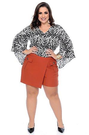 Blusa Cropped Plus Size Susan