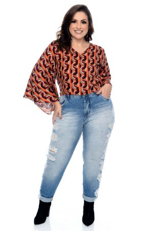 Blusa Cropped Plus Size Britt
