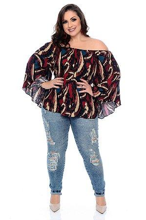 Blusa Ciganinha Plus Size Vallie
