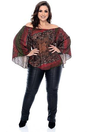 Blusa Ciganinha Plus Size Francine
