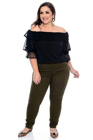 Blusa Ciganinha Plus Size Abla