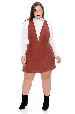 Jardineira Shorts Plus Size Macine