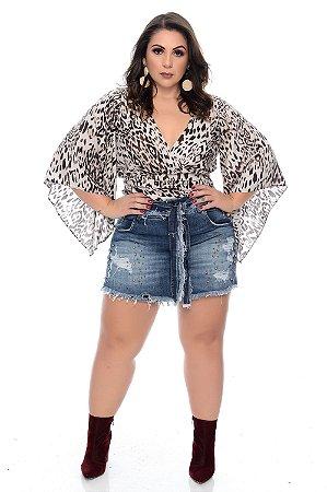 Shorts Saia Jeans Plus Size Bonari