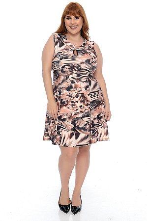 Vestido Crepe Plus Size Glaide