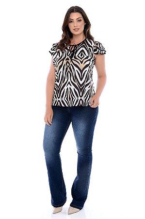 Calça Jeans Flare Plus Size Leyane