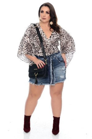 Blusa Cropped Plus Size Maidi