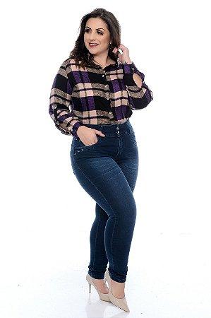 Calça Jeans Skinny Plus Size Cidya