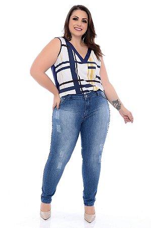 Calça  Jeans Plus Size Uliana