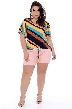 Blusa Plus Size Ciclamen