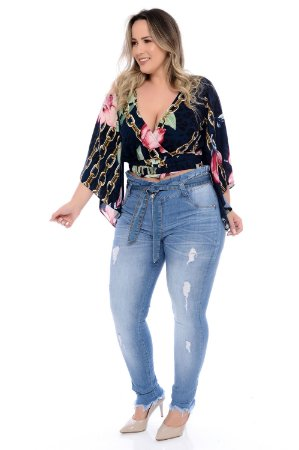 cd4fd79aba9bd9 Calça Jeans Plus Size Wandy