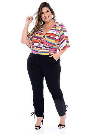 Blusa Cropped Plus Size Cartamo