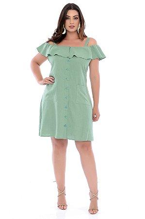 Vestido de Linho Plus Size Lais