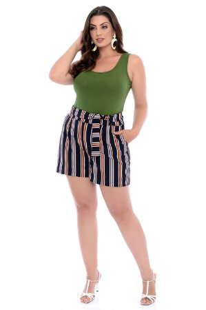 Shorts Plus Size Hibisco