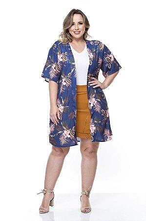 Colete Kimono Plus Size Ilah
