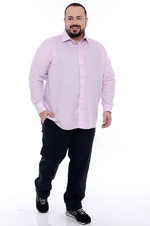 Camisa Social Manga Longa Plus Size Adonis