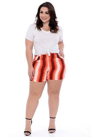 Shorts Linho Plus Size Liasha