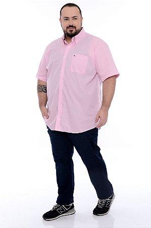 Camisa Social Manga Curta Plus Size Pablo