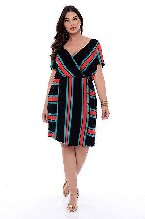 Vestido Midi Plus Size Keely