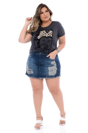 Shorts Saia Jeans Plus Size Yumy