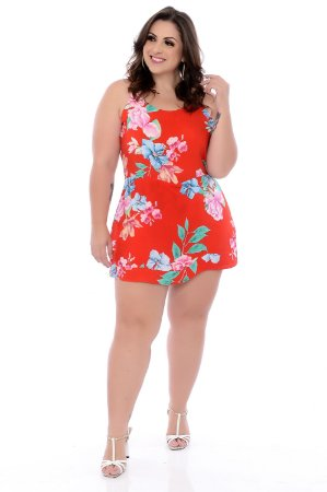 Macaquinho Vestido Plus Size Emelly