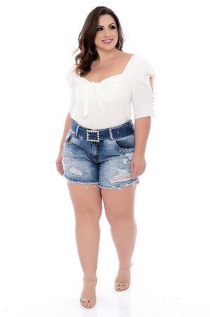 Shorts Jeans Plus Size Leiza
