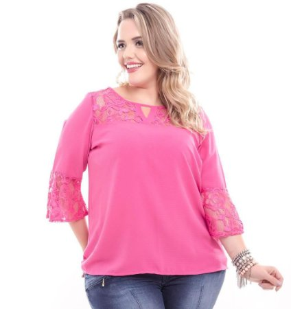 Blusa Plus Size Pink