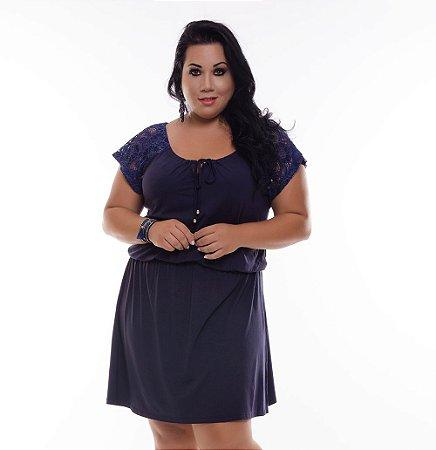 Vestido Plus Size Lucy Blue