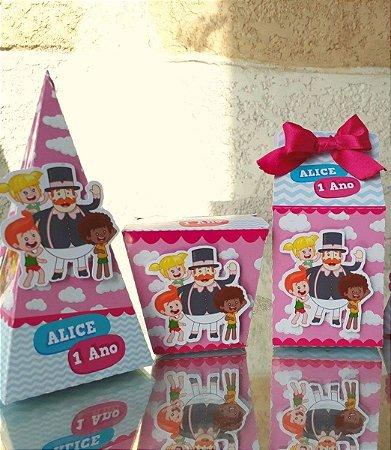 Kit festa Mundo Bita Rosa e Azul - 40 itens * Leia a Descrição*