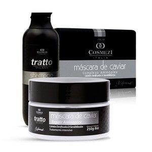 Kit Máscara e Shampoo - Caviar & Aminoplex - Para Cabelos Sensibilizados e Danificados