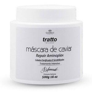Máscara de Caviar Aminoplex  | Cabelos Ressecados, Danificados e Sensibilizados 500g | Cosmezi