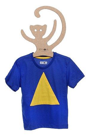 T-Shirt Tom Azul Bic Triângulo Amarelo