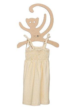 Vestido Linho Belga Pulando Amarelinha