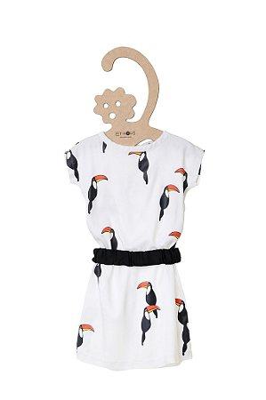Vestido Estampa Tucanos
