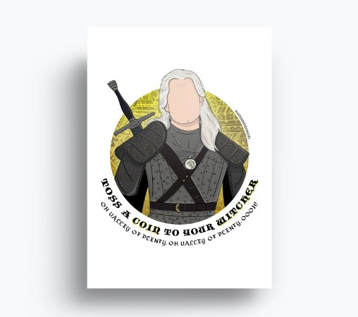 Quadro The Witcher - Geralt