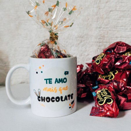 Kit Páscoa - Te Amo Mais Que Chocolate