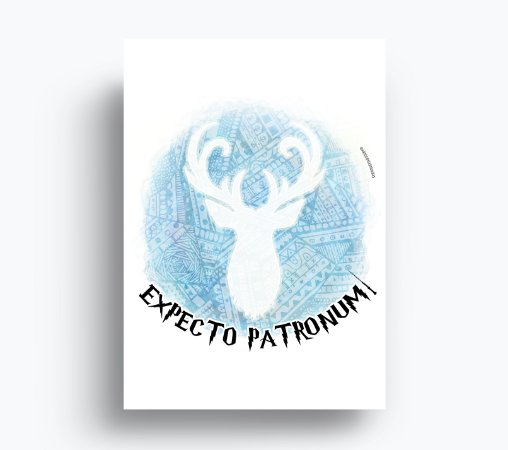 Quadro Expecto Patronum - Harry Potter