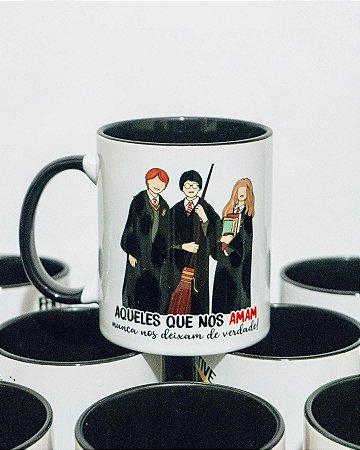 Caneca Harry, Hermione e Rony | Harry Potter
