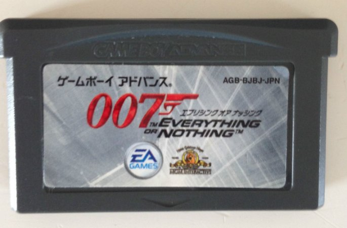 Jogo 007 Evereything or Nothing [Japonês] - Game Boy Advanced - Seminovo