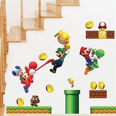 Adesivo Decorativo Mario Bros
