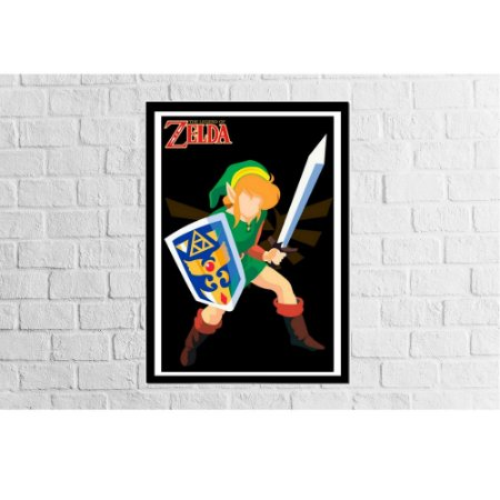 Pôster Emoldurado Zelda - Meu Game Barato