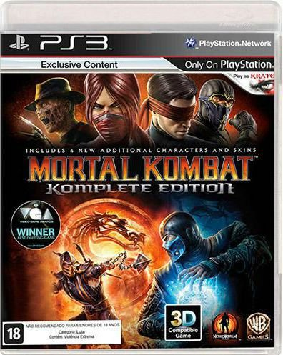Jogo Mortal Kombat Komplete Edition - PS3 - Seminovo