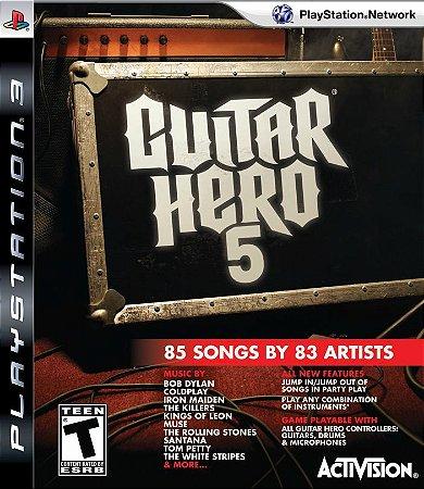 Jogo Guitar Hero 5 - PS3 - Seminovo