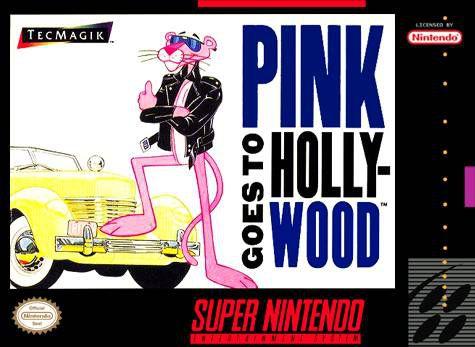 Jogo Pink Goes to Hollywood- SNES - Seminovo