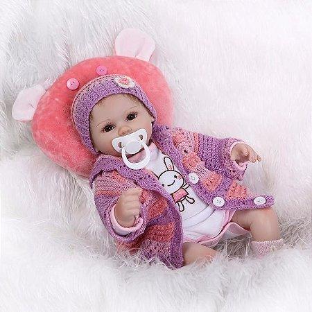 Boneca e Bebe Reborn Angelina  Super Oferta