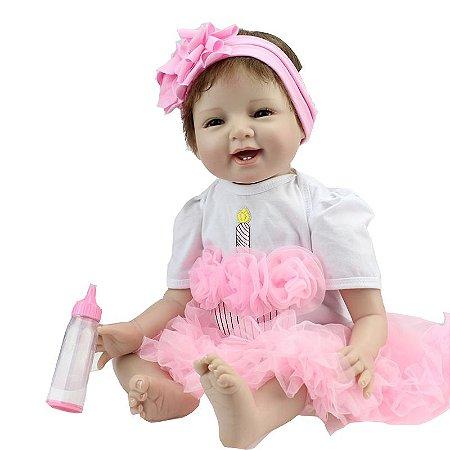 Boneca Bebe Reborn Risonha