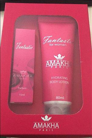 Perfume de bolso  Amakha Paris Parfum 15ml + Creme Hidratante 80 grs INSPIRAÇÃO NOS ORIGINAIS