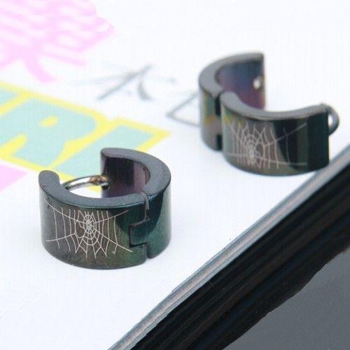 Brinco Viuva Negra modelo Aço Inox Preto Coleção O Preto Belo